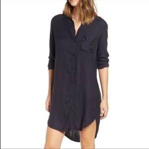 Rails Bianca charcoal Shadow Plaid Shirt Dress